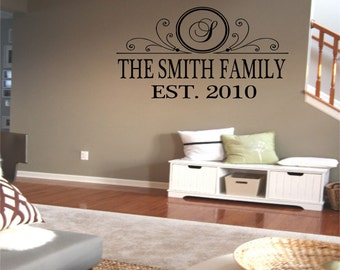 Family Name EST Wall Decal