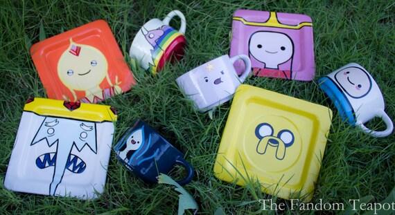 Adventure Time Finn Jake Flame Princess Marceline Ice King Princess Bubblegum LSP Rainicorn Mocha Cup Tea Cup Coffee Mug