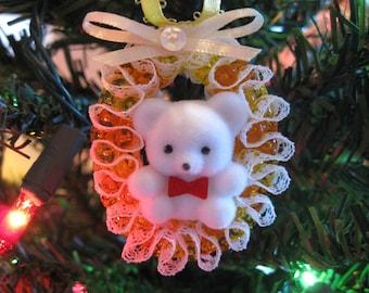 Christmas Ornament White Bear