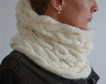 Pattern - Neck Warmer / Infinity Scarf,  Knit Pattern