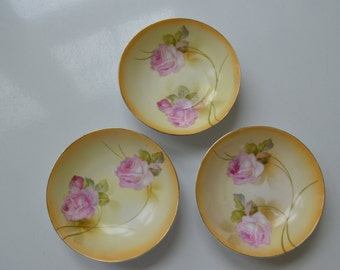 vintage RS Germany shabby chic rose bowls