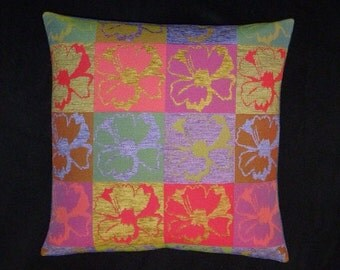 """Andy Warhol-esque Modern design accent Pillow -  17"""" x 17"""" with feather/down insert"""