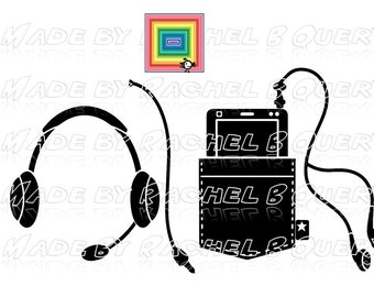 Smart Phone Pocket and Headset SVG DXF Jpeg commercial use