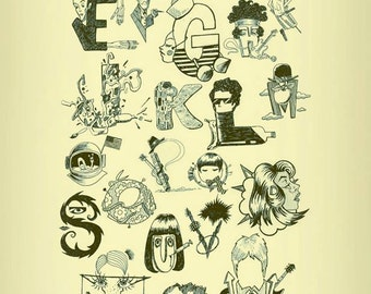 Illustrative Pop Alphabet