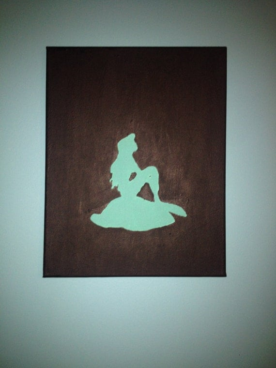 Disney Princess Ariel And Eric Silhouette 13x9 Disney Princess Ariel