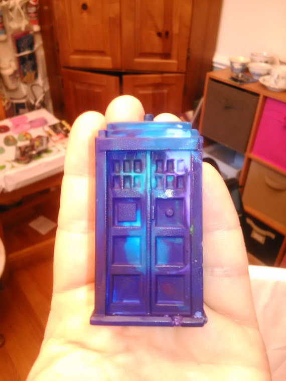 Doctor Who Crayons! Tardis and Dalek Crayons!