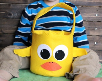 Easter Basket Duck, Easter bucket, Easter basket ideas, fabric basket, Easter gift, Easter gift ideas, first Easter gift, Easter baskets