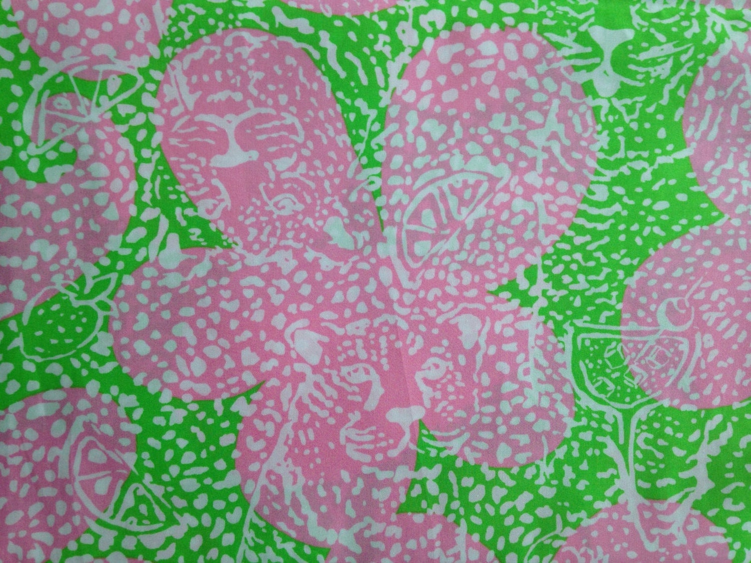 Lilly Pulitzer Fabric 3 Square Patches Of Lilly Pulitzer Fabric Limeade Cheat Ya