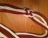 Lots O Knots Headband Red and Gray Stripe & White
