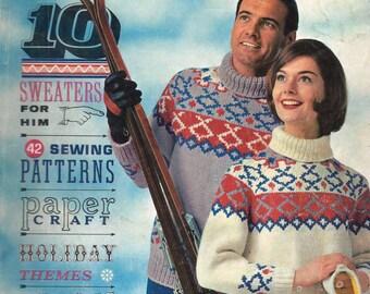 SALE! Destash Magazine - Modern Needlecraft Number 38 Fall Winter 1961 - Acceptable Condition