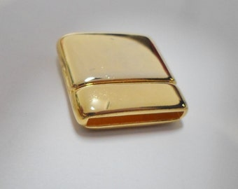 SALE: 20mm Gold Magnetic Clasp, Thin, High Quality, Flat Leather finding, jewelry supplies, supplier,