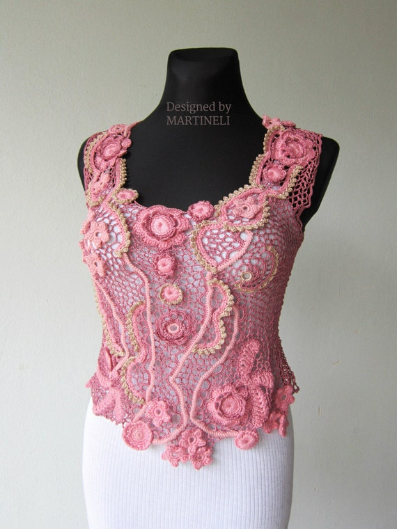 Freeform Crochet Blouse 12
