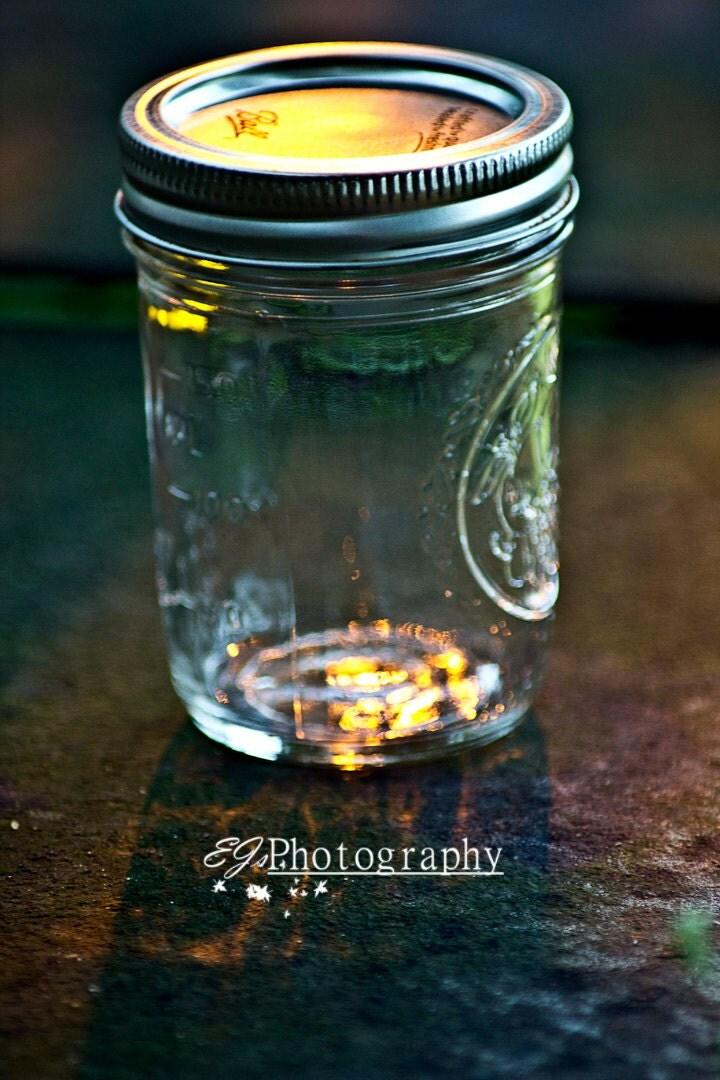 lightning bugs in a mason jar nature photography fine art. Black Bedroom Furniture Sets. Home Design Ideas