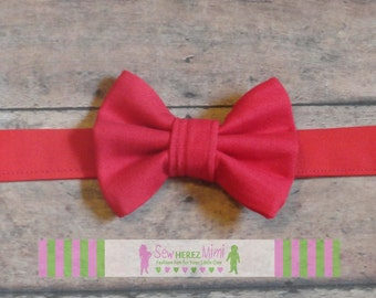 Solid Red pre-tied Bow Tie Infant, Child, Youth, Adult