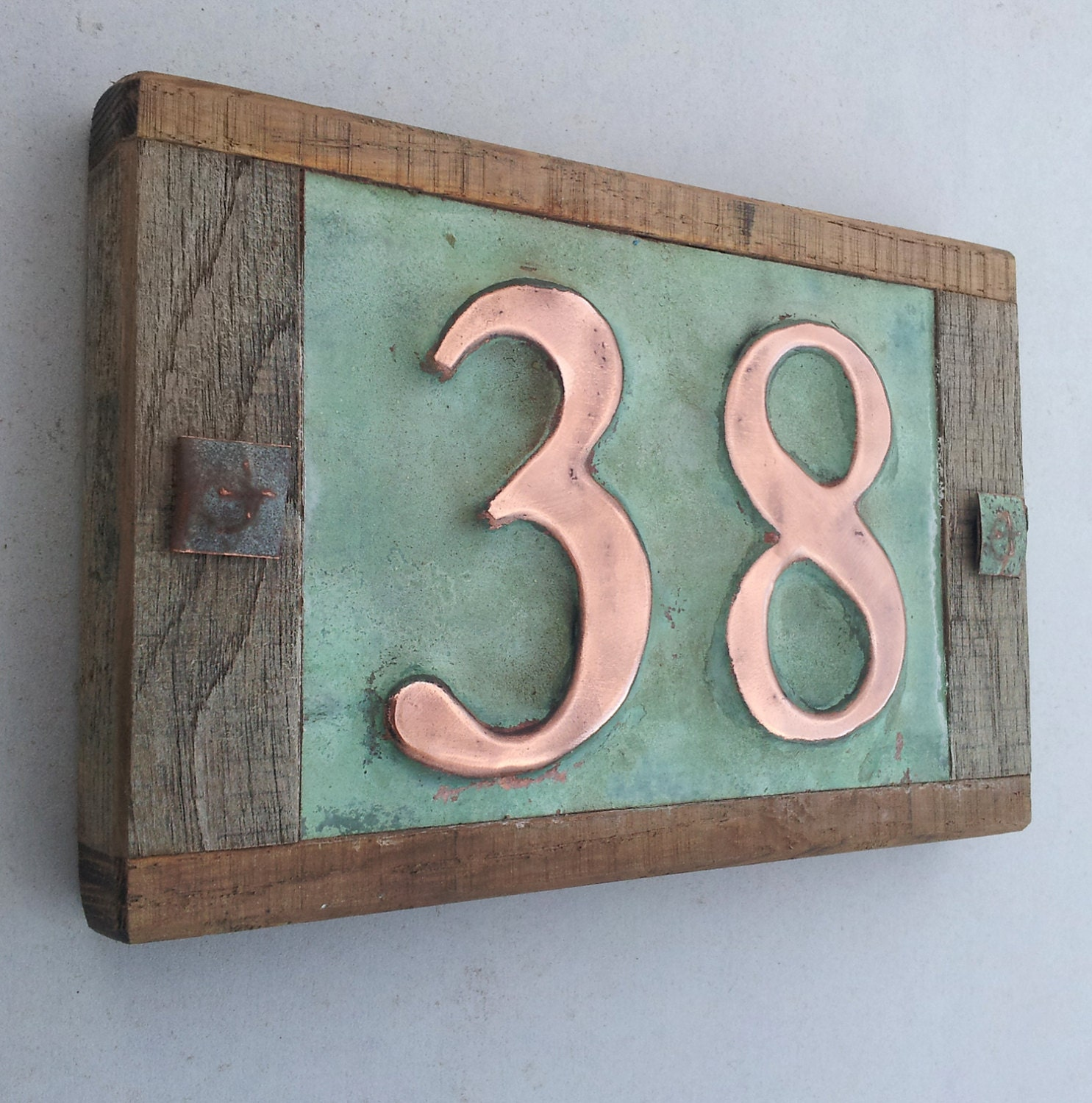 Copper house numbers 12 best copper house numbers images for Big modern house numbers