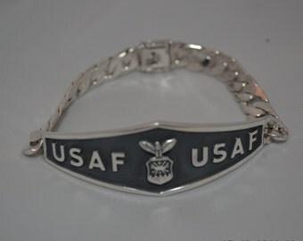 US Air Force Bracelet .925 Sterling Silver