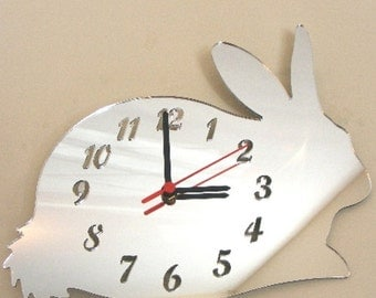 Rabbit Clock Mirror - 2 Sizes Available