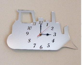 Bulldozer Clock Mirror - 2 Sizes Available