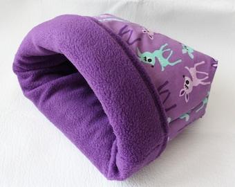 "XXL cuddle sack / sleeping bag / cuddle bag ""deer"" for guinea pigs"
