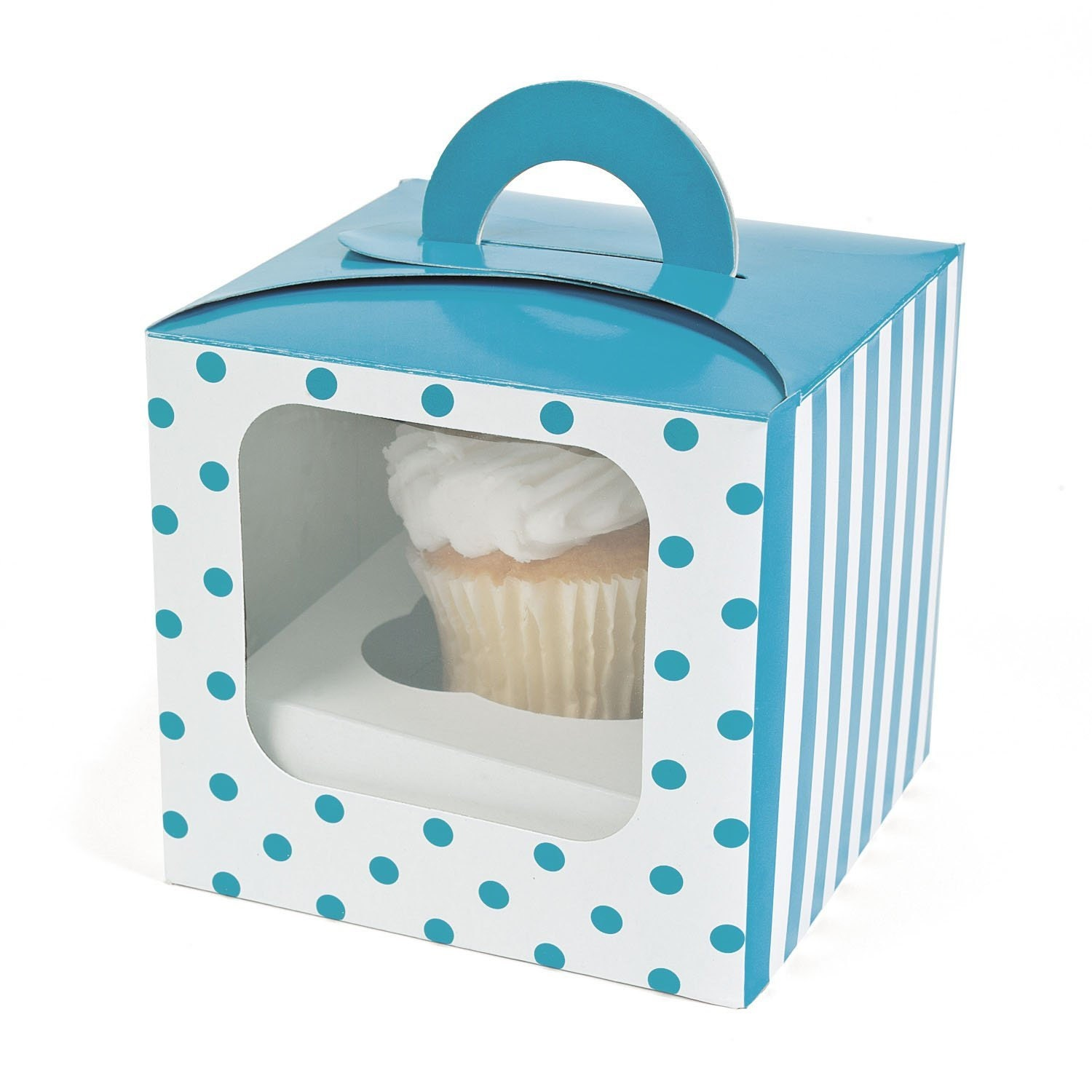 polka dot cupcake boxes 12 pk window bakery by