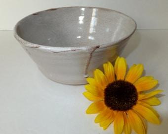 Soft Oatmeal Rustic Ceramic Stoneware Quart Bowl