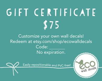 Gift Certificate 75 USD