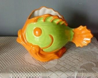 Ceramic Cartoon Fish Planter Large