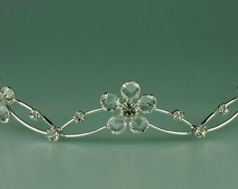 Wedding Tiara - Lana Rhinestone Headband - Wedding Hair Jewelry - Bridal Floral Headband -  Bridesmaid Headband - Bridal Tiara