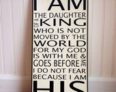 I Am His  - Typography Wall Art Sign -