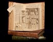 "Photographic Print of Book Sculpture 'Miniature Bookshop' 10"" x 8"""