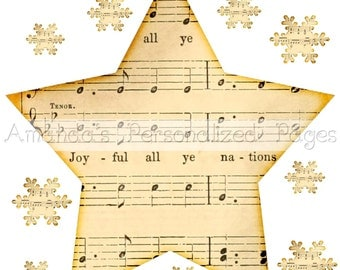 12x12 1-page Personalized Scrapbook  Paper (Christmas Concert Star)