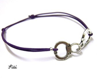 Bracelet purple handcuff