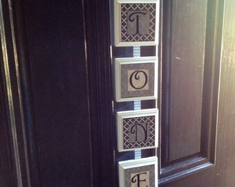 wood letter blocks, personalized/custom