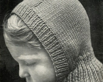 Free Knitting Patterns Kids Balaclava : vintage knitting pattern ladies womens winter hat ...
