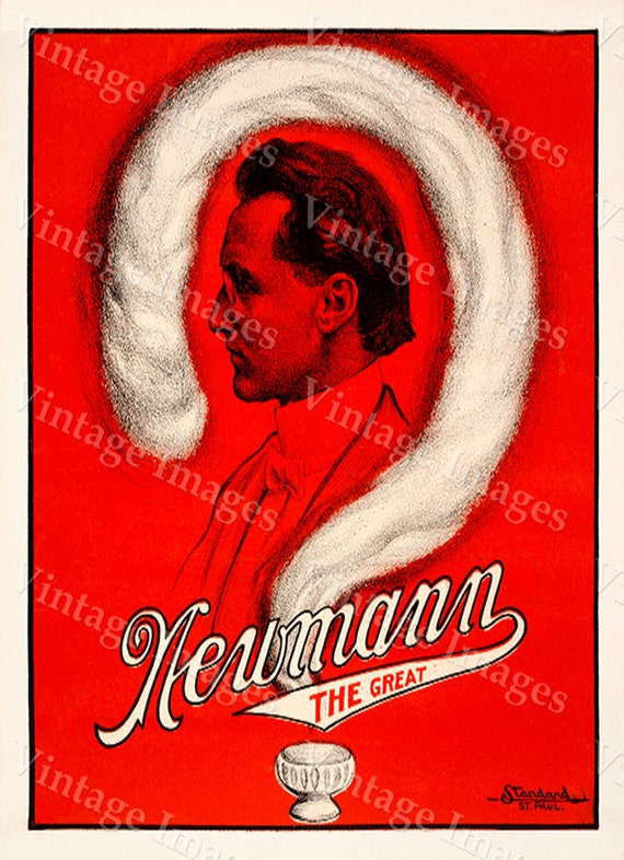 Old Magic Poster Vintage Newmann The Great Magic Magician Mystic Magic The Magicians Poster Game room Magic Decor Fine Art Print Giclee
