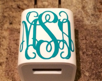 "1"" monogram for Cell Phone Charger"