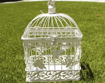 White Bird Cage for Wedding- Small