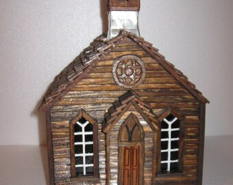 Ghost Town Bodie Church Replica Model ON SALE !!! WAS 250.00