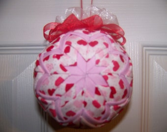 Valentine Day Quilted Ornament