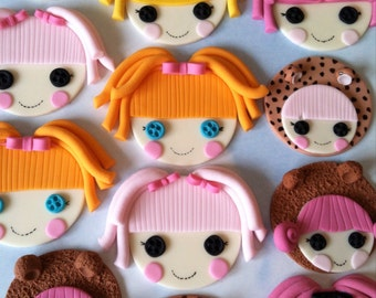Set of lalaloopsy cupcake/cookie toppers
