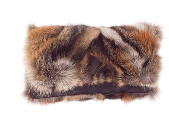 Fox hand purse