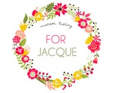 Custom Listing for Jacque