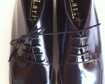 NOS Italian Leather Laceup Ankle Boots - size 7