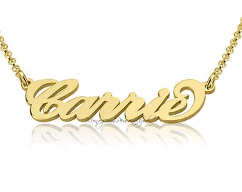 Gold Plated Name Necklace -  Any name you wish, personalized name necklace