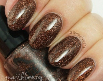 Walnutty- Fine Glitter Polish
