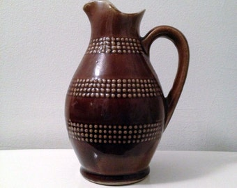 Brown Ceramic Pitcher