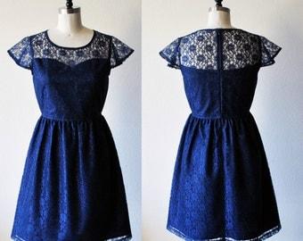 Navy blue bridesmaid dress | Etsy