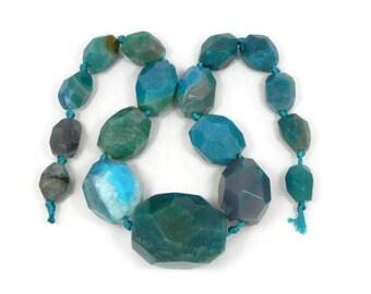 Full strand fire agate beads, graduated chunky fire agate beads