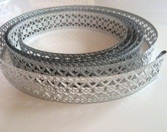 Modern Metal Trim, aluminum trim, aluminum ribbon, silver metal trim, decorative metal trim, DIY floral supply, silver wire