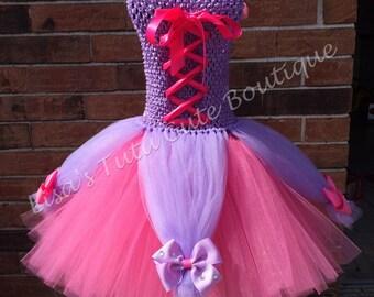 Princess party dress. Bling dress. Corset party dress. Princess dress. Repunzel. Pink and purple tutu. Princess birthday.